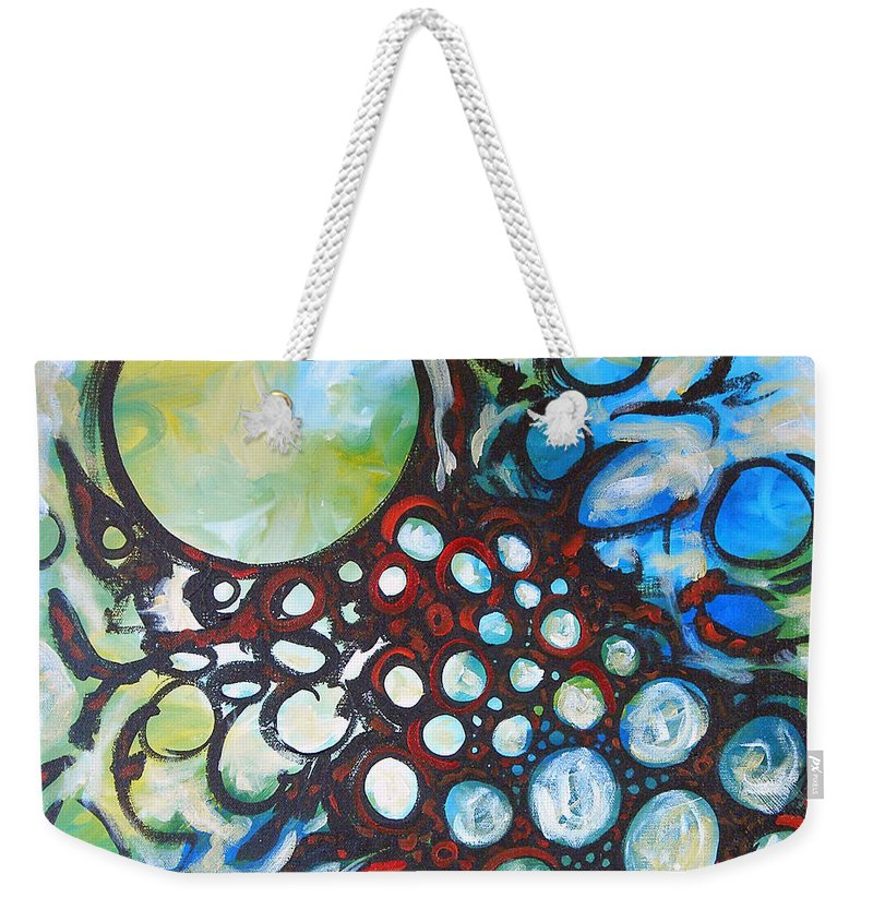 Dot Weekender Tote Bag featuring the painting Lava Lamp Studio No.1 by Tonya Henderson