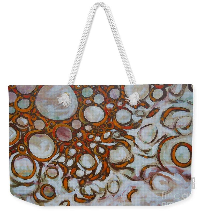 Energy Weekender Tote Bag featuring the painting Lava Lamp Studio No.2 by Tonya Henderson