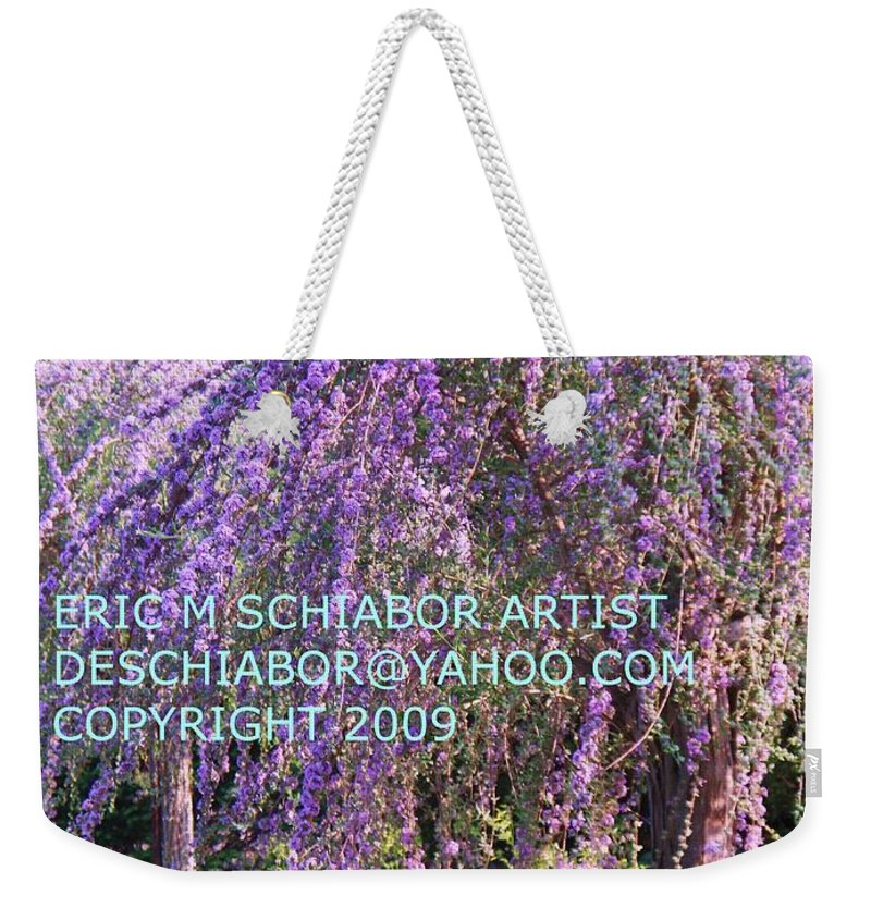 Butterfly Bush Weekender Tote Bag featuring the photograph Lavender Butterfly Bush by Eric Schiabor