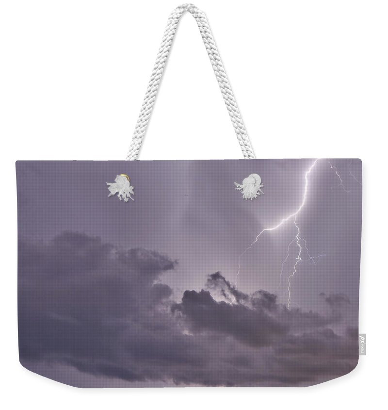 Florida Weekender Tote Bag featuring the photograph Lavender Lace by Stephen Whalen