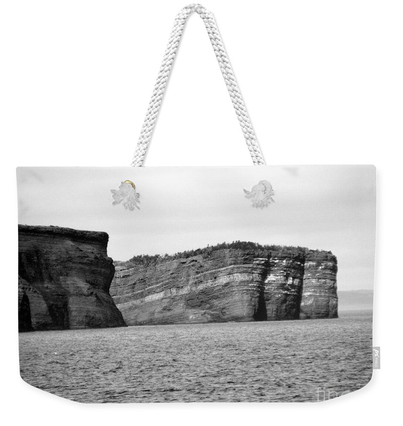 Rock Weekender Tote Bag featuring the photograph Layers Of Bedrock by Barbara Griffin
