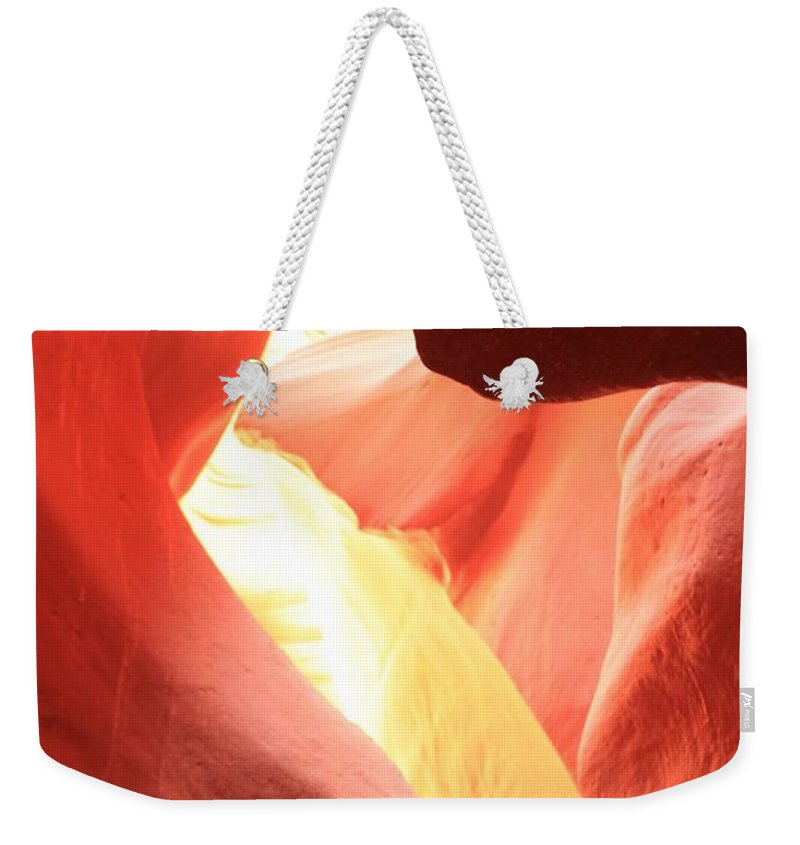 Arizona Slot Canyon Weekender Tote Bag featuring the photograph Layers Of Light And Sandstone by Adam Jewell