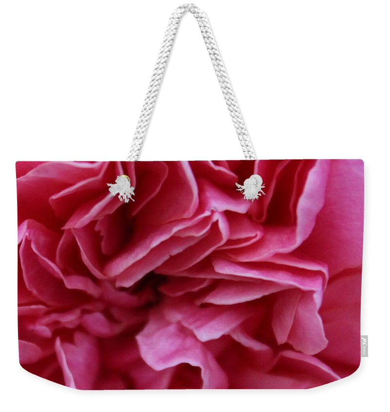 Layers Of Pink Weekender Tote Bag featuring the photograph Layers Of Pink by Shannon Louder