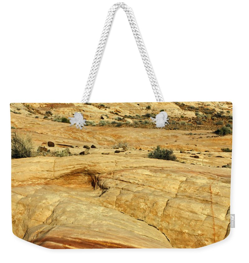Nevada Weekender Tote Bag featuring the photograph Layers Of Rock by Jennifer Robin