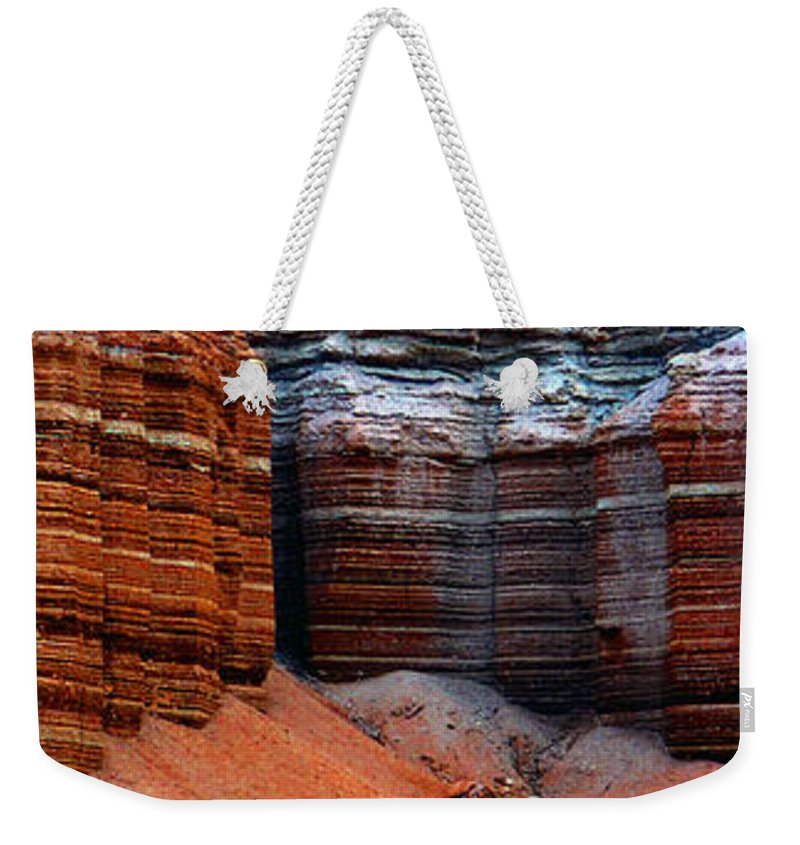 Landscape Weekender Tote Bag featuring the photograph Layers Of Time by David Lee Thompson