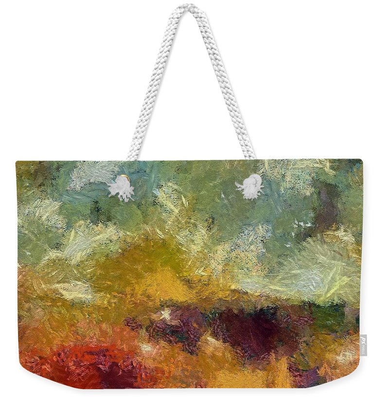 Abstract Art Weekender Tote Bag featuring the painting Lazy Afternoon by Dragica Micki Fortuna
