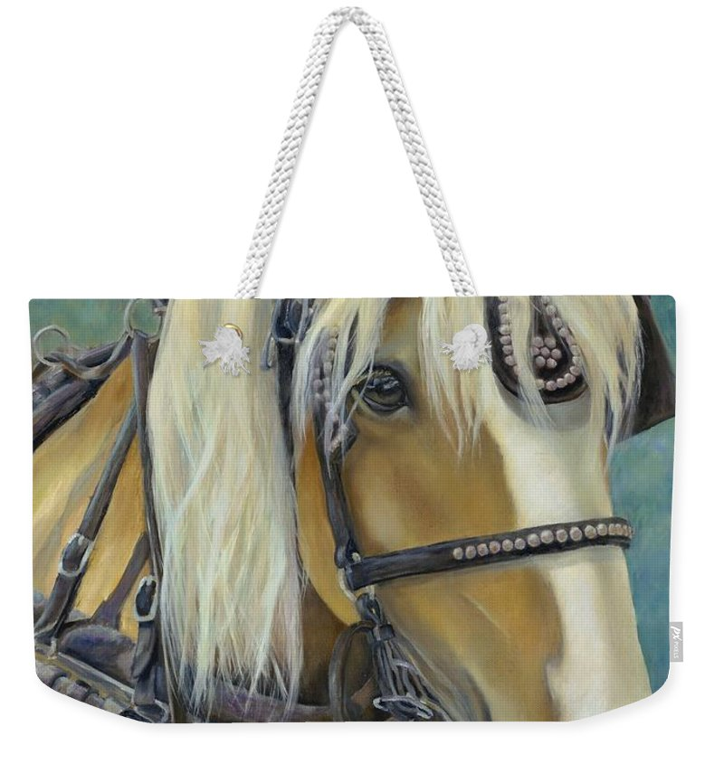 Horse Weekender Tote Bag featuring the painting Lazy Ride In Charleston by Catherine Davis