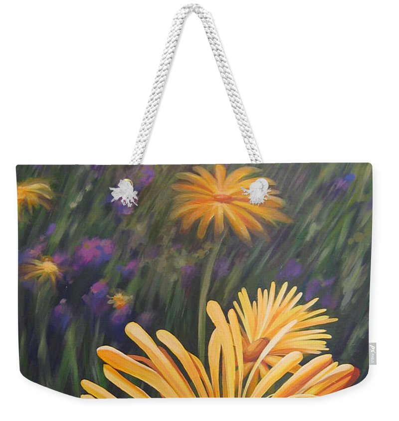 Wildflowers Weekender Tote Bag featuring the painting Lazy Sunday by Hunter Jay