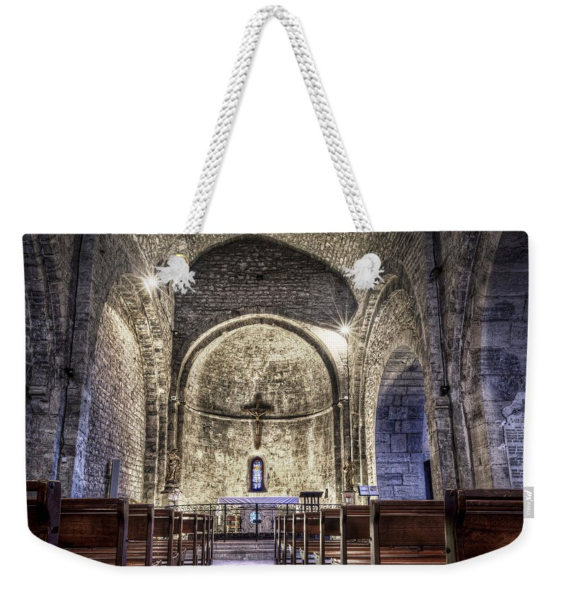 Le Castellet Weekender Tote Bag featuring the photograph Le Castellet Medieval Church by Marc Garrido