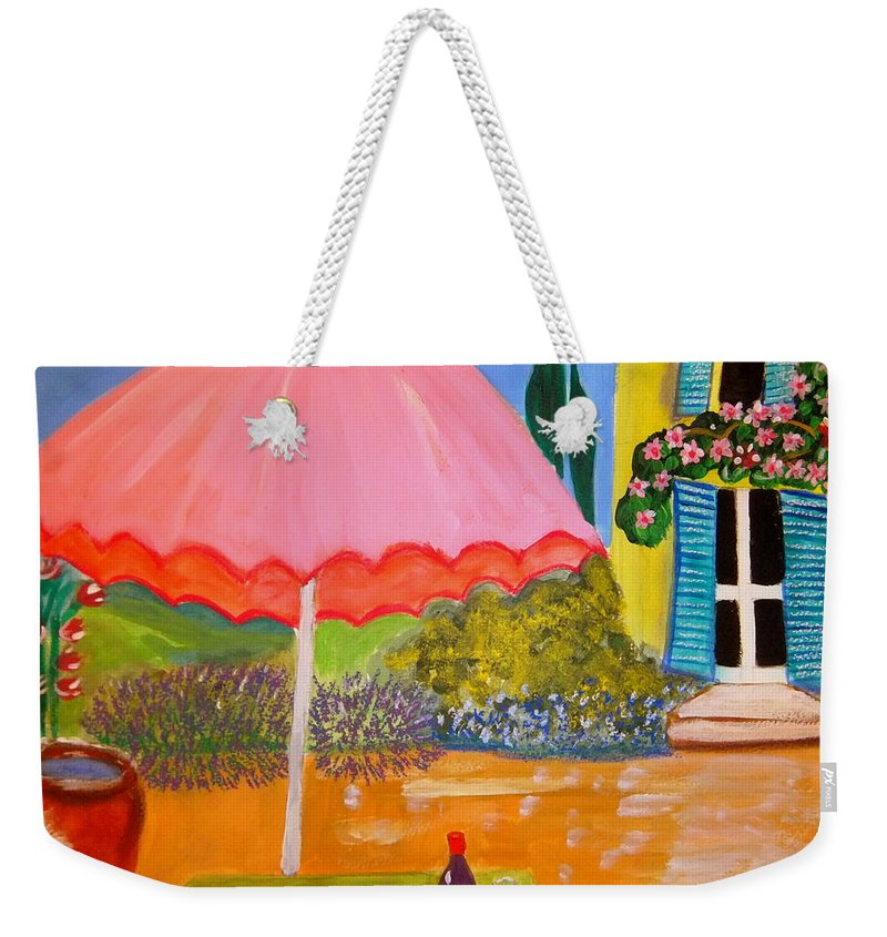 Provence Weekender Tote Bag featuring the painting Le jardin du Voisin by Rusty Gladdish
