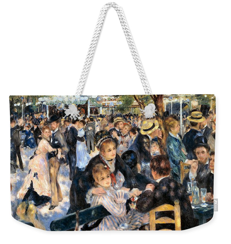 Pierre Auguste Renoir Weekender Tote Bag featuring the digital art Le Moulin De La Galette by Pierre Auguste Renoir
