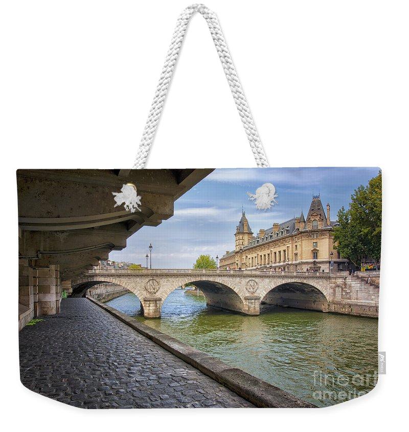 Pont Napoleon Weekender Tote Bag featuring the photograph Le Pont Napoleon Paris by Lumiere De Liesse Ltd Images of Robert L Lease