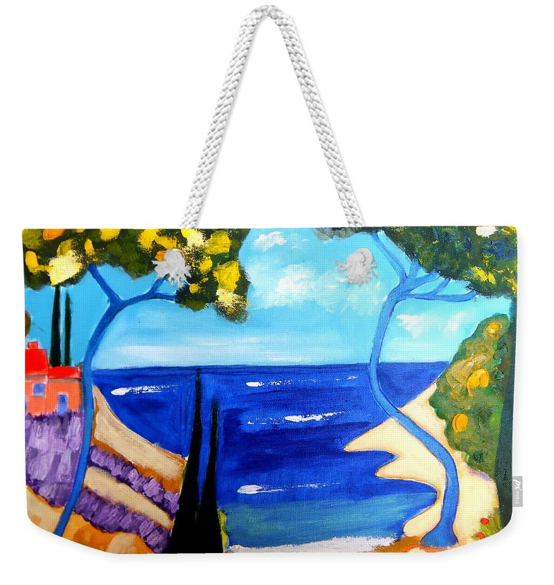 Provence Weekender Tote Bag featuring the painting Le Reve De Provence by Rusty Gladdish