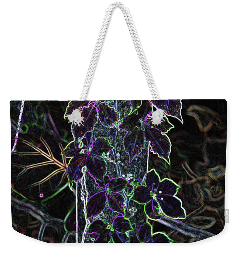 Digital Abstract.leaf Weekender Tote Bag featuring the photograph Leaf Abstract IIi by Christiane Schulze Art And Photography