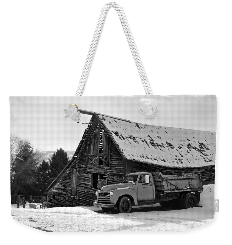 Vintage Weekender Tote Bag featuring the photograph Lean On Me by Image Takers Photography LLC - Laura Morgan