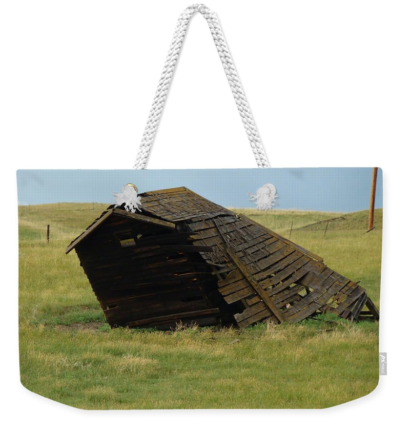Weekender Tote Bag featuring the digital art Lean To The Wind by Cathy Anderson