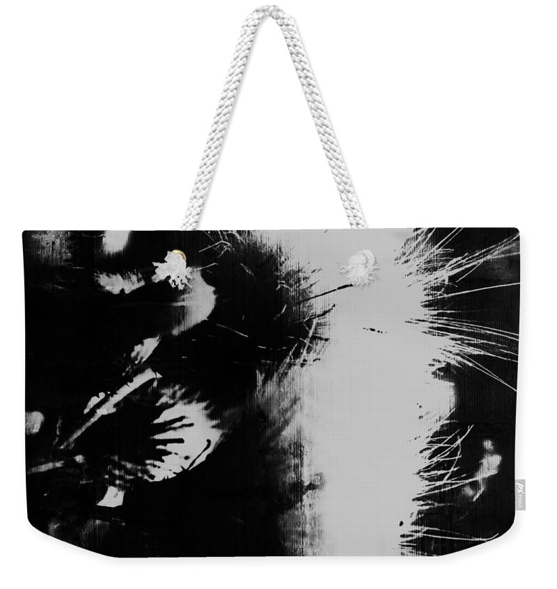 Abstract Art Weekender Tote Bag featuring the photograph Leather Smirks by The Artist Project