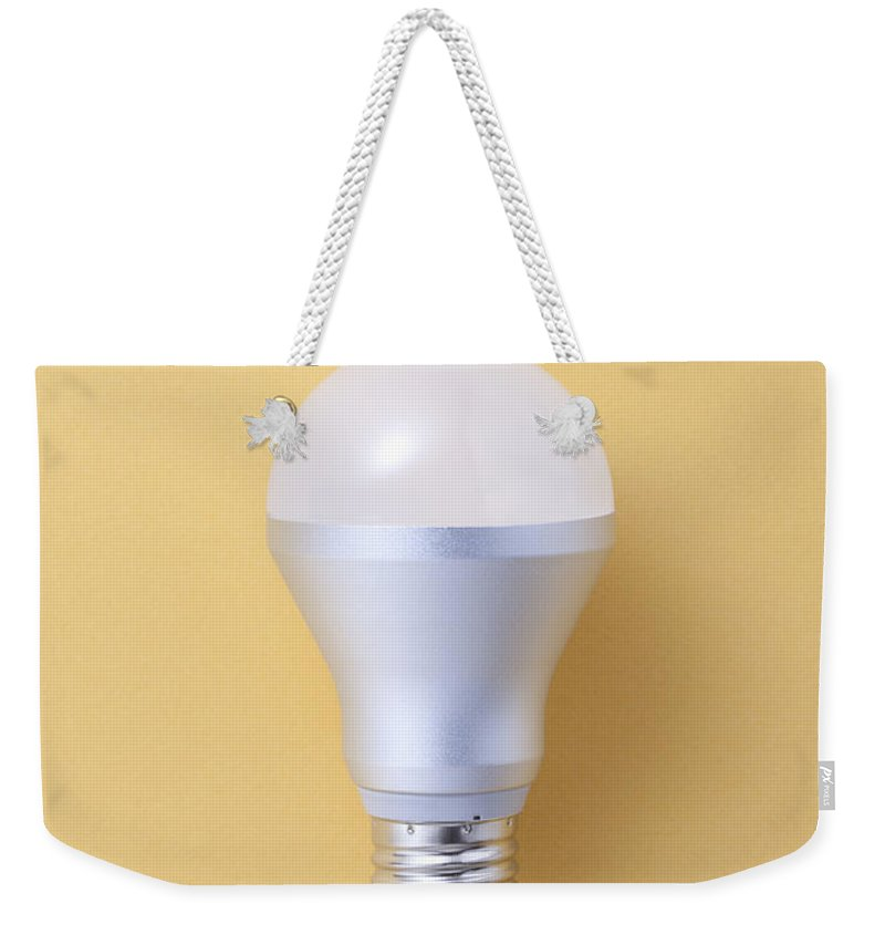 Environmental Conservation Weekender Tote Bag featuring the photograph Led Bulb by Imagenavi