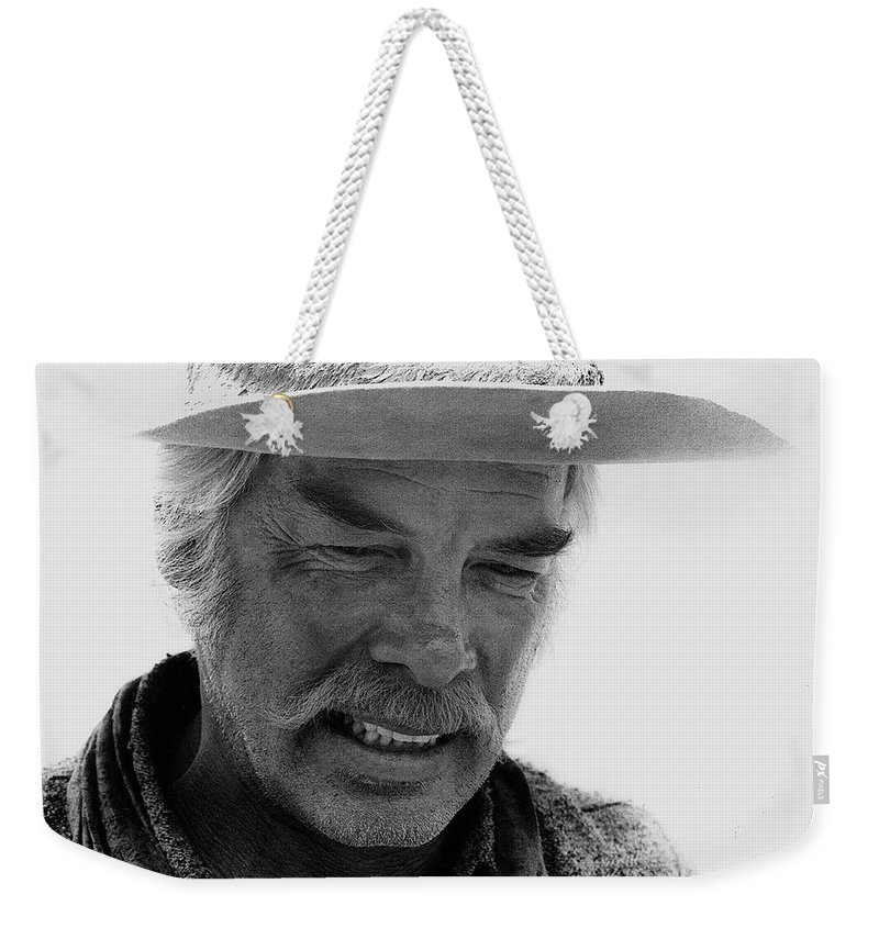 Lee Marvin Monte Walsh Old Tucson Arizona 1969 Weekender Tote Bag featuring the photograph Lee Marvin Monte Walsh Set Old Tucson Arizona 1969 by David Lee Guss