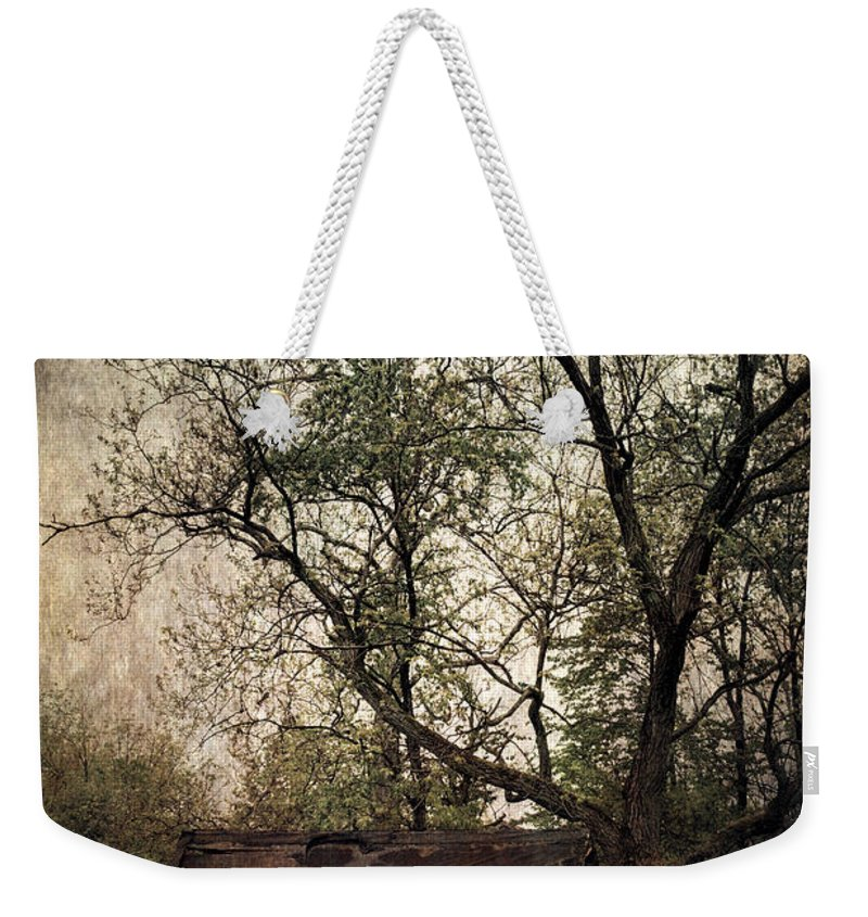 Old Building Weekender Tote Bag featuring the photograph Left Untouched by Dale Kincaid