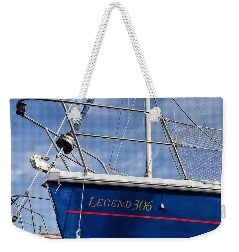 Dry-dock Weekender Tote Bag featuring the photograph Legend 306 by Susie Peek