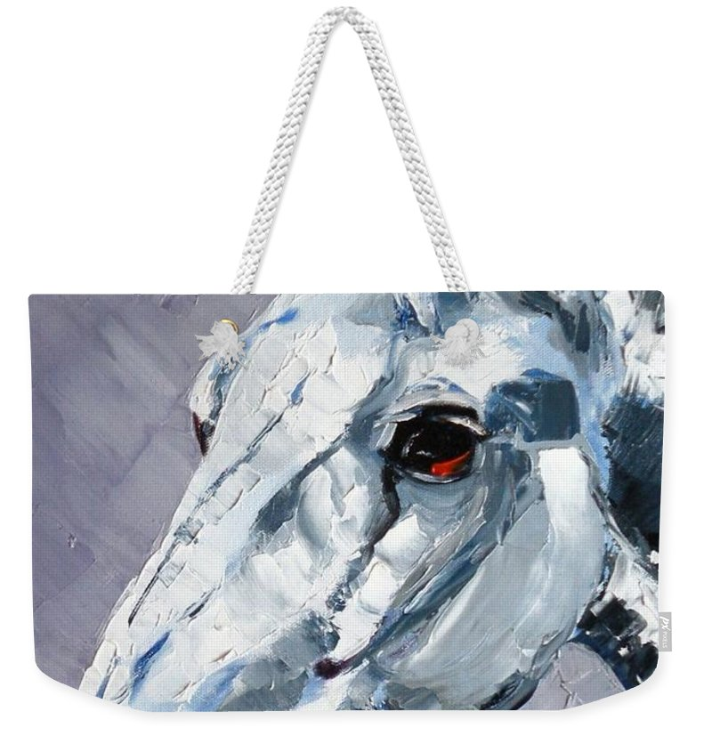 Horse Weekender Tote Bag featuring the painting Legend - Sport Horse by Susan A Becker