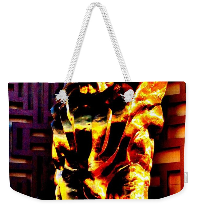 Las Vegas Weekender Tote Bag featuring the photograph Leo The Lion by Benjamin Yeager