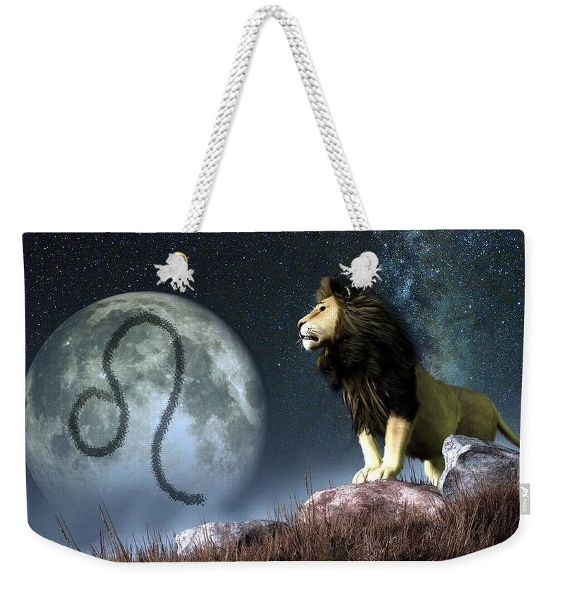 Leo Zodiac Symbol Weekender Tote Bag For Sale By Daniel Eskridge