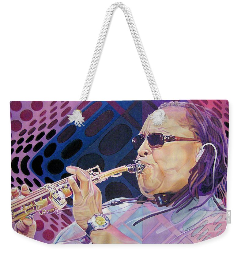 Leroi Moore Weekender Tote Bag featuring the drawing Leroi Moore by Joshua Morton