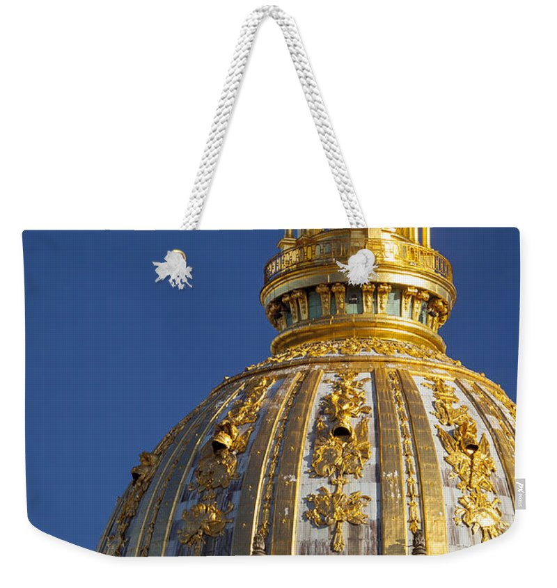 Architectural Weekender Tote Bag featuring the photograph Les Invalides Dome by Brian Jannsen