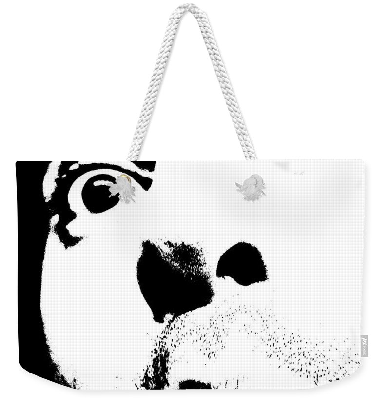 Black Weekender Tote Bag featuring the photograph Selfie Circa 2005 by M Pace