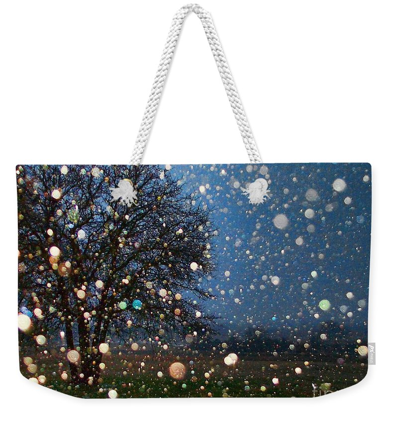 Snow Weekender Tote Bag featuring the photograph Let It Snow by Shannon Story