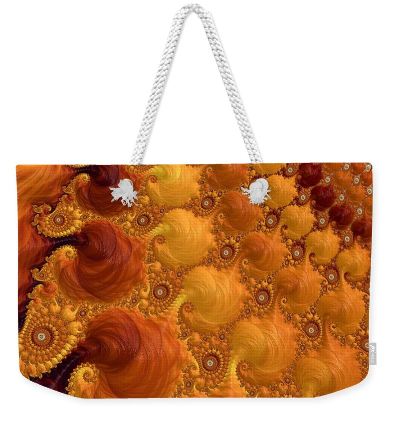 Yellow Weekender Tote Bag featuring the digital art Let The Sun Shine by Heidi Smith