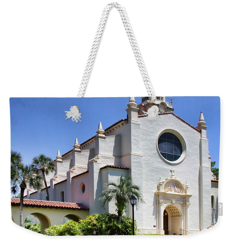 Knowles Memorial Chapel Weekender Tote Bag featuring the photograph Let There Be Light Knowles Memorial Chapel 1 By Diana Sainz by Diana Raquel Sainz