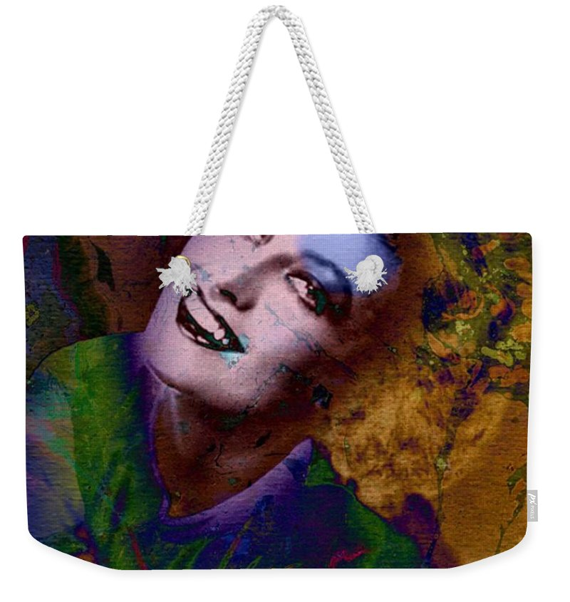 Oil Weekender Tote Bag featuring the mixed media Let's Dance by T Cook