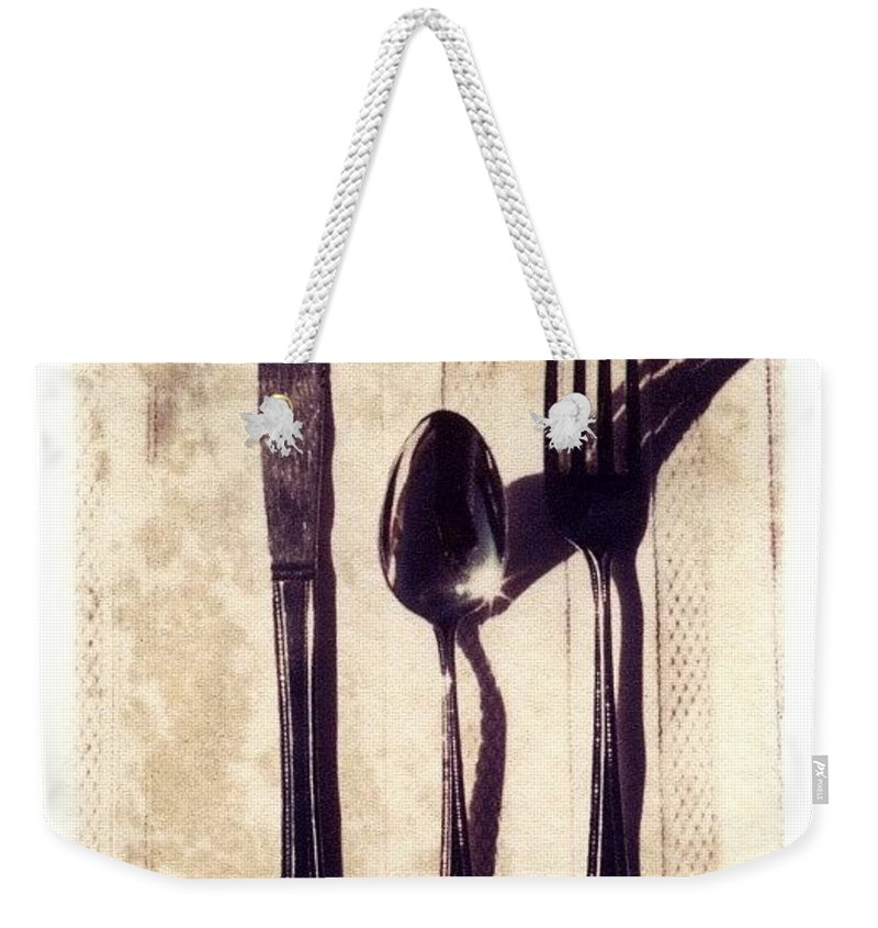 Forks Weekender Tote Bag featuring the photograph Lets Eat by Jane Linders