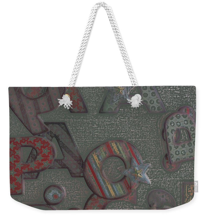 Letters Weekender Tote Bag featuring the digital art Letters by Lovina Wright