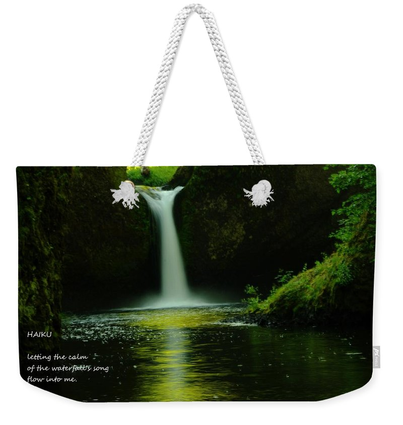 Water Weekender Tote Bag featuring the photograph Letting The Calm by Jeff Swan