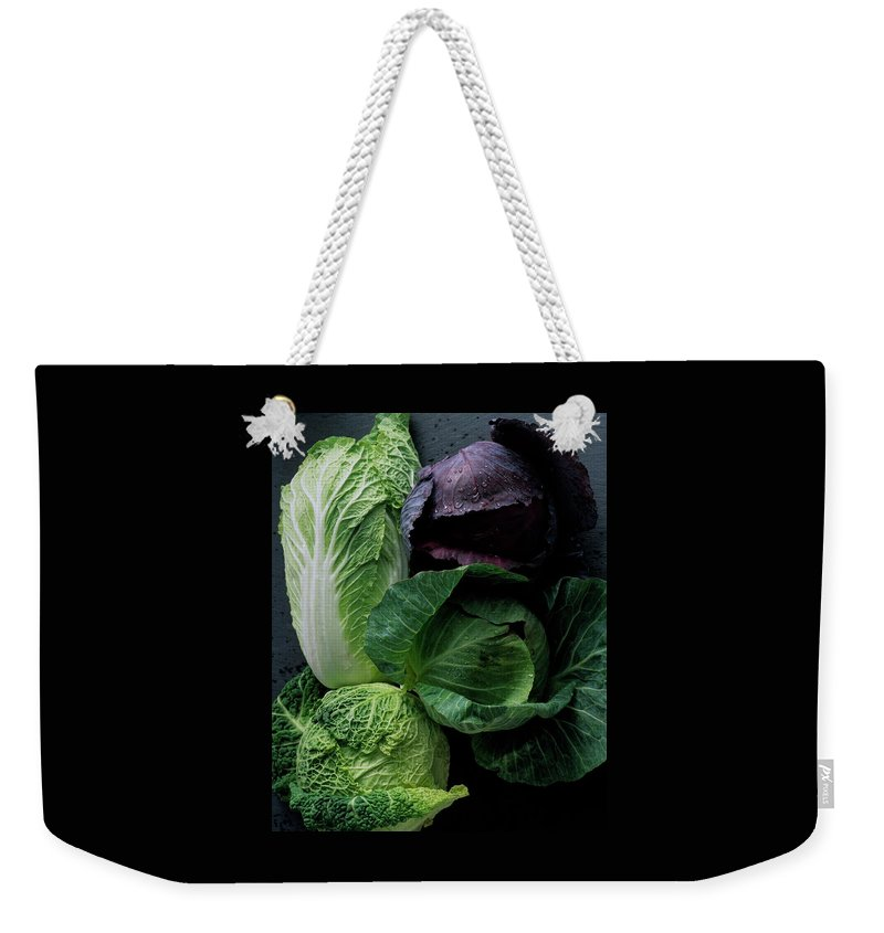 Fruits Weekender Tote Bag featuring the photograph Lettuce by Romulo Yanes