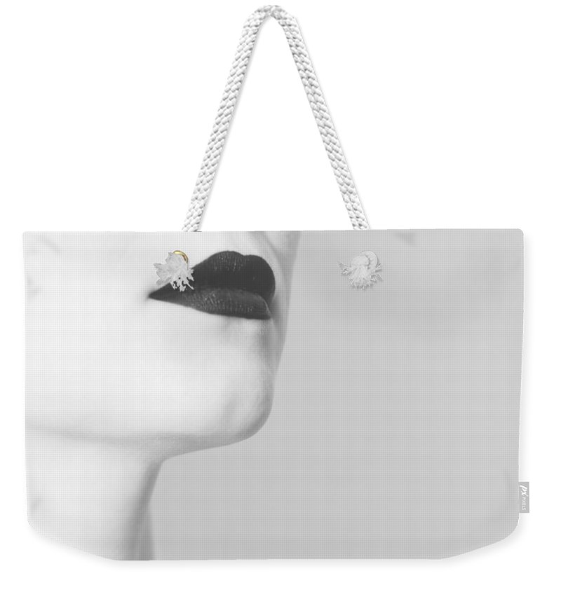 Black Weekender Tote Bag featuring the photograph Levres noires by Zapista OU