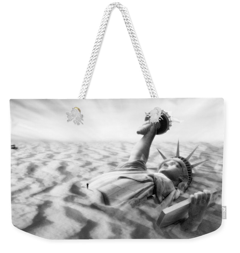 Surrealism Weekender Tote Bag featuring the photograph Liberty Park II Panoramic by Mike McGlothlen
