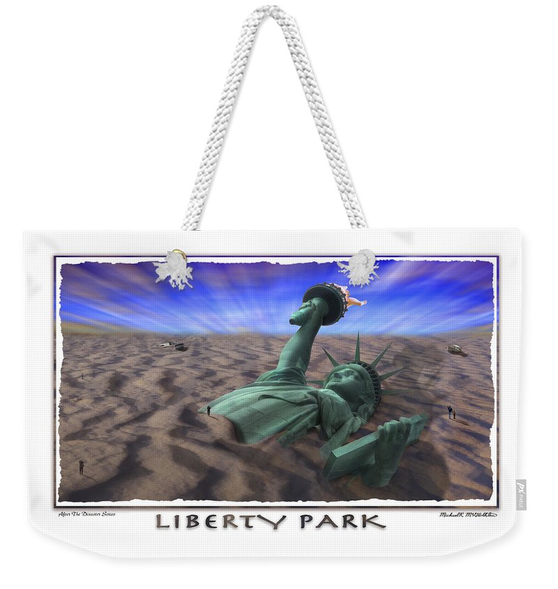 Pop Art Weekender Tote Bag featuring the photograph Liberty Park by Mike McGlothlen