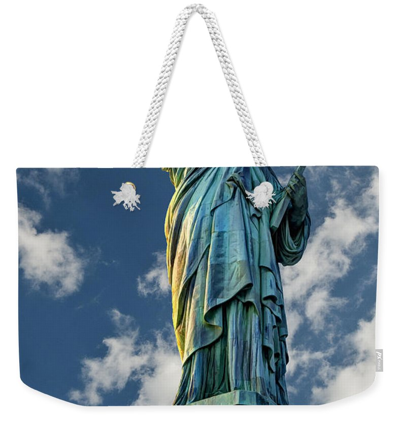 Statue Of Liberty Weekender Tote Bag featuring the photograph Liberty by Steve Purnell