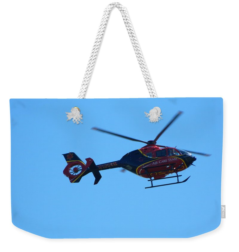 Life Flight Weekender Tote Bag featuring the photograph Life Flight by George Pedro