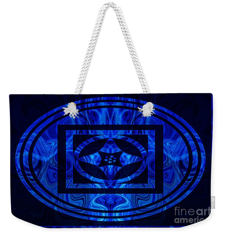 2x3 (4x6) Weekender Tote Bag featuring the digital art Life Force Within Abstract Healing Artwork by Omaste Witkowski