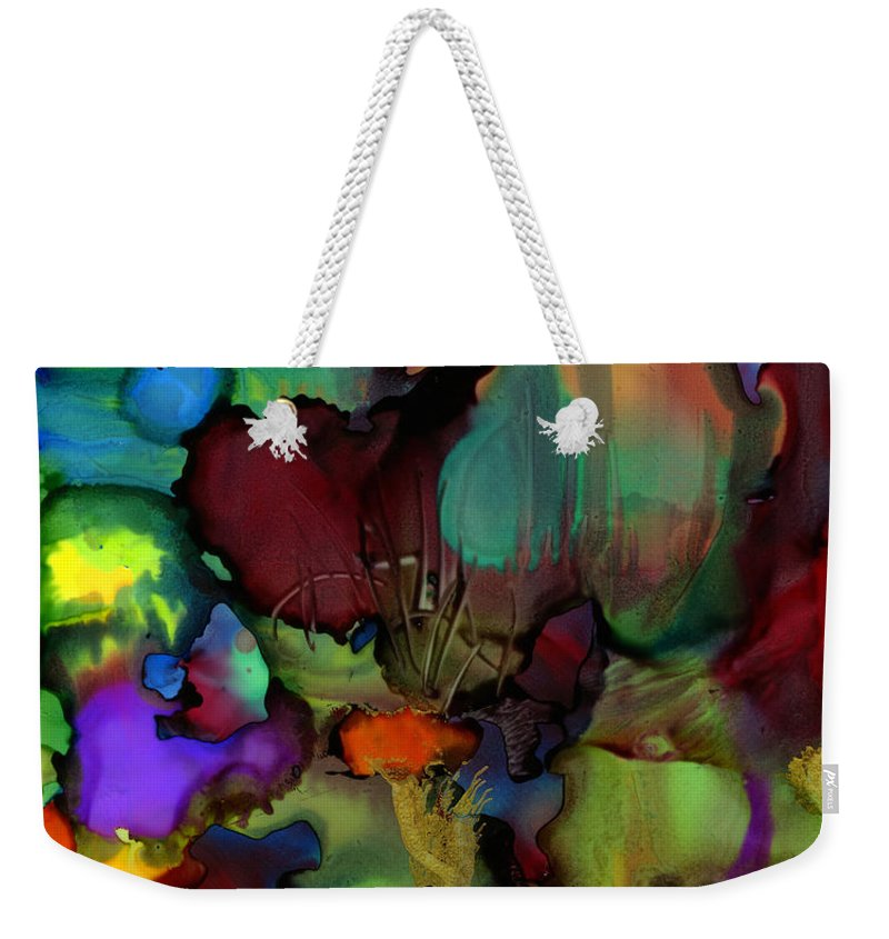 Ink Weekender Tote Bag featuring the painting Life In Another World by Angela L Walker