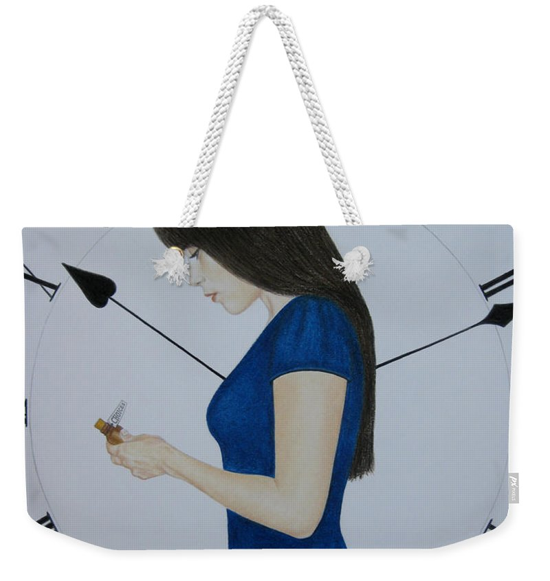 Life Weekender Tote Bag featuring the painting Life by Lynet McDonald