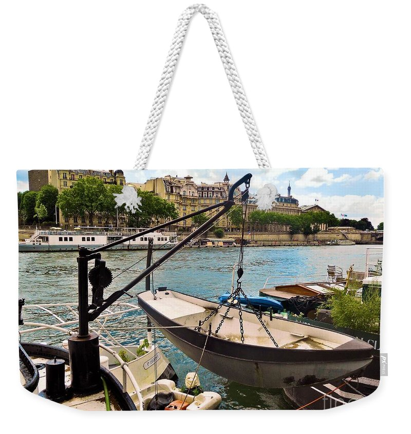 Abstract Weekender Tote Bag featuring the photograph Life On The Seine by Lauren Leigh Hunter Fine Art Photography