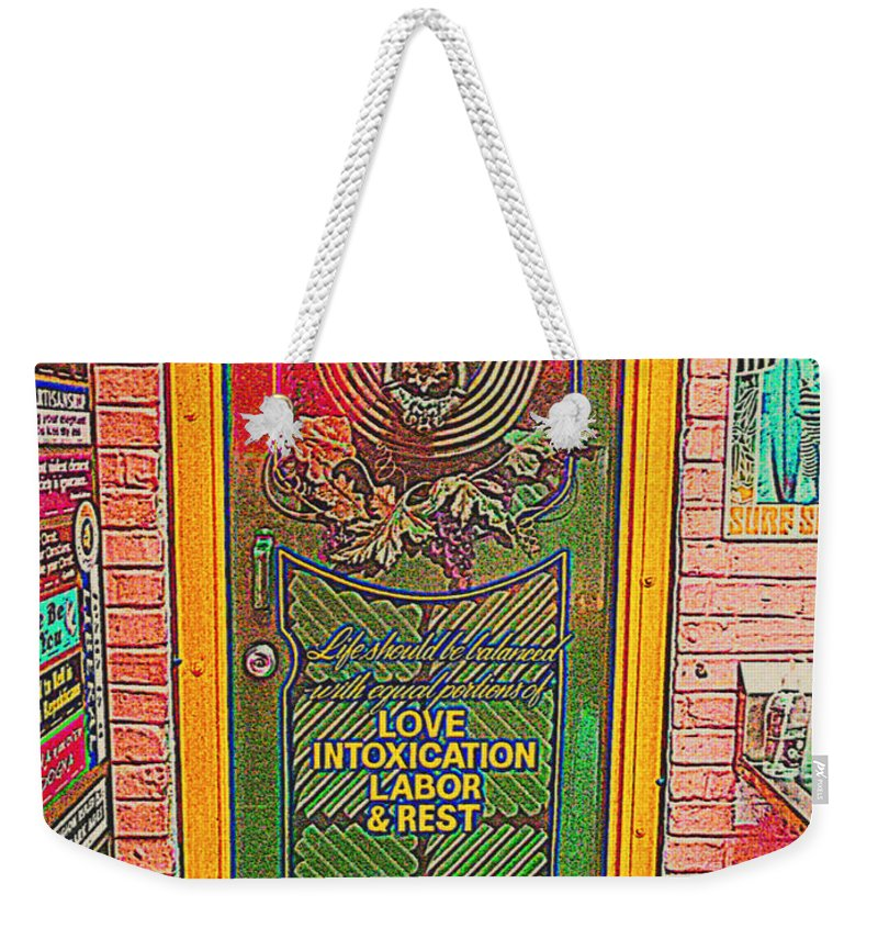 Weekender Tote Bag featuring the photograph Life Should Be Painted by Kelly Awad