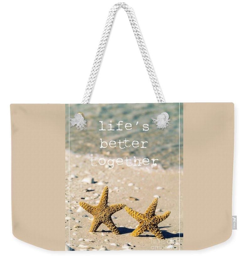 Seascape Weekender Tote Bags